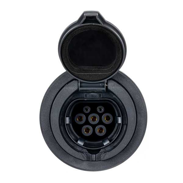 Premium Type 2   32A   250V/415V    Female Shutter Socket Outlet
